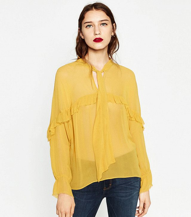 Zara Frilled Flowing Blouse