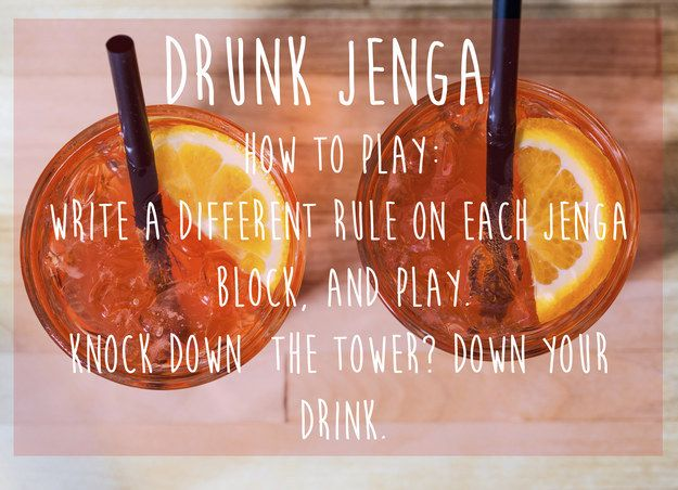 Drunk Jenga (aka Drunga) | 15 Simple Drinking Games Every Fresher Should Know