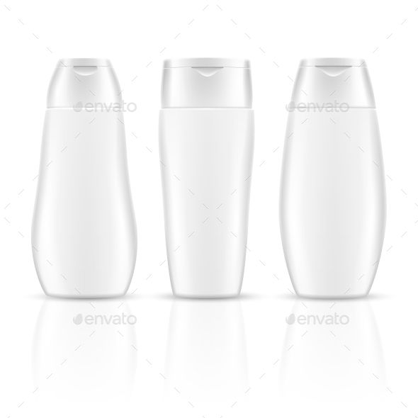 White Blank Shampoo Bottles Cosmetic Container