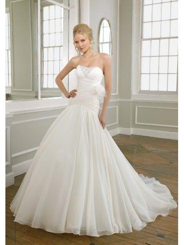 Chiffon Sweetheart Hand-Beaded Bodice Mermaid Wedding Dress