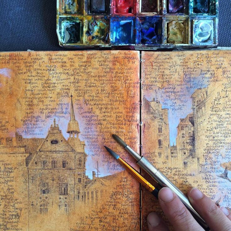 Inside the Well-Traveled Sketchbooks of Artist Dina Brodsky   Colossal