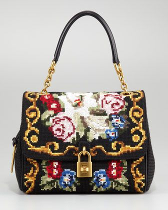 Miss Dea Tapestry Satchel by Dolce & Gabbana