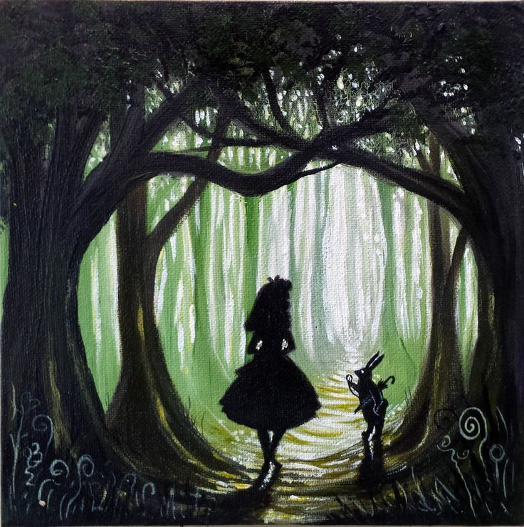 ooak Original rare art painted alice in wonderland fantasy painting artwork in | eBay