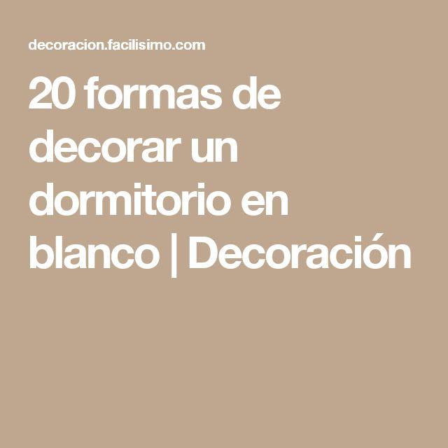 20 formas de decorar un dormitorio en blanco | Decoración
