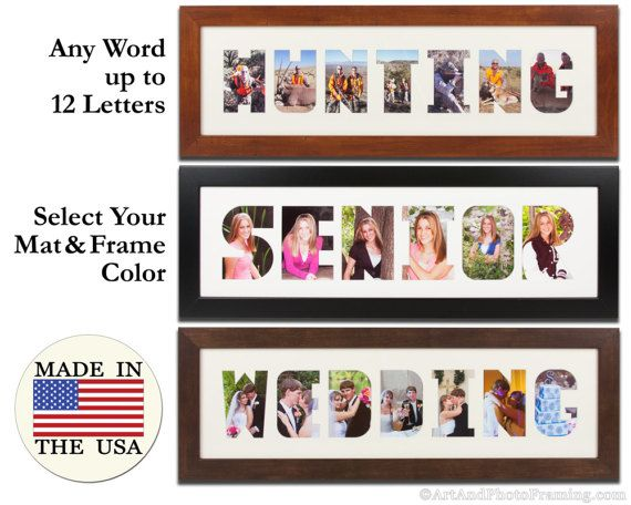 Personalized Wordmat Frame Picture Frame Mulit Photo Frame Etsy Framed Word Art Collage Frames Collage Picture Frames