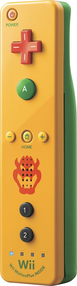 Nintendo - Wii Remote Plus for Nintendo Wii U - Bowser
