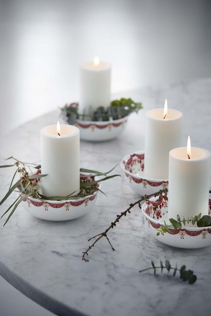 Christmas bowls by Bjorn Wiinblad