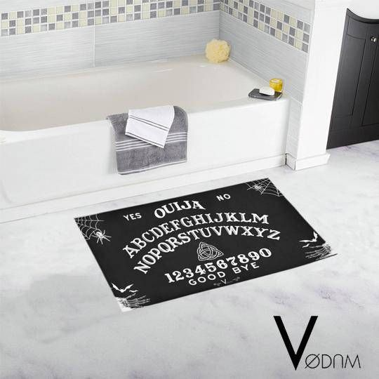 OUIJA Bath Rug Gothic Pagan Sweet Bones Black Dark Occultism