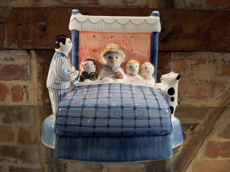 Rye Pottery Pastoral Series of Ceramic figures - Mother's Day - There's surely no better present for any mum than breakfast in bed!  http://www.ryepottery.co.uk/product_category/pastoral-rye-figures/