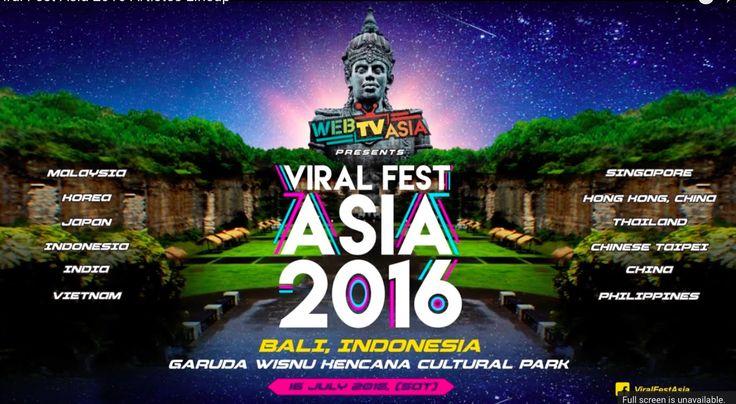 Kemenpar RI Ramaikan Viral Fest Asia 2016