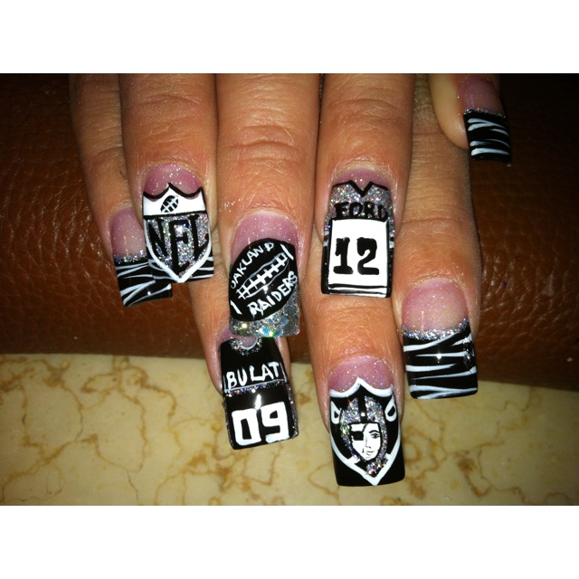 I can see me doing this for the start of RAIDERS football season!