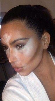 Kim Kardashian demo's her makeup artist's contouring tricks