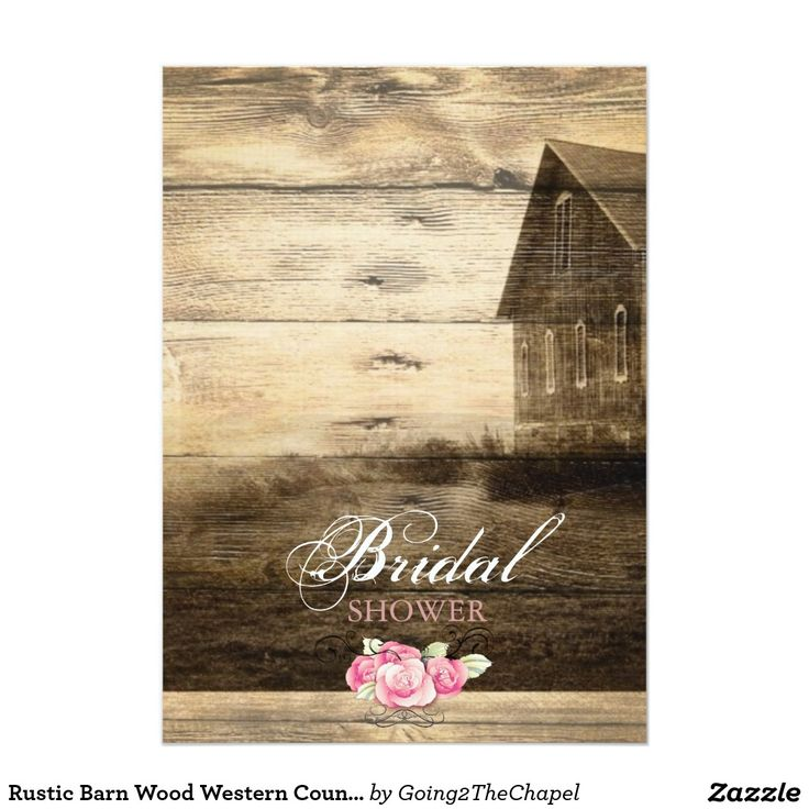 words to write in wedding shower card%0A Rustic Barn Wood Western Country bridal shower Card