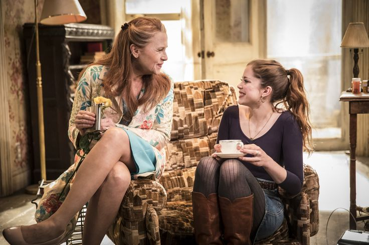 Amy Madigan & Charlotte Hope in Buried Child, Trafalgar Studios, photo Johan Persson.  Click here for info: https://www.fromtheboxoffice.com/3LM9-buried-child/