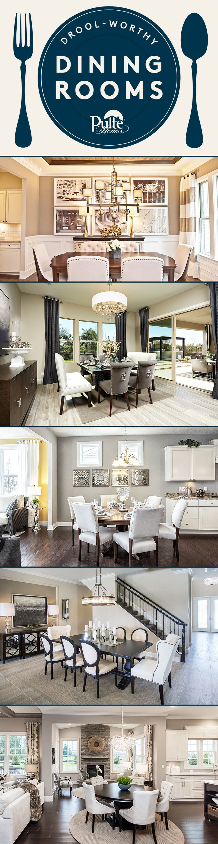 Give Your Dining Room The Five Star Treatment With These Delicious Design And Decor Inspirations Pulte Homes1st Apartmentinterior