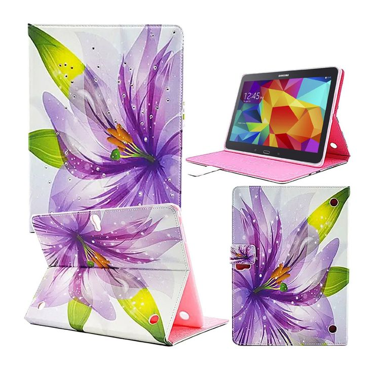 For Galaxy Tab S T800 Case Fashion Colorful Lily Flower Flip Leather Case Cover for Samsung Galaxy Tab S 10.5 SM-T800