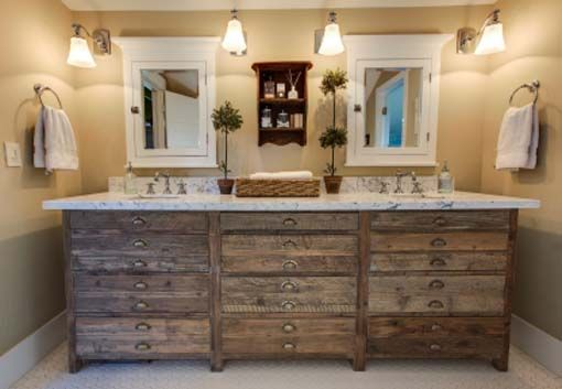 "vessel sink ideas | Related Posts for "" Rustic Bathroom Vanities to Complete the Bathroom ..."