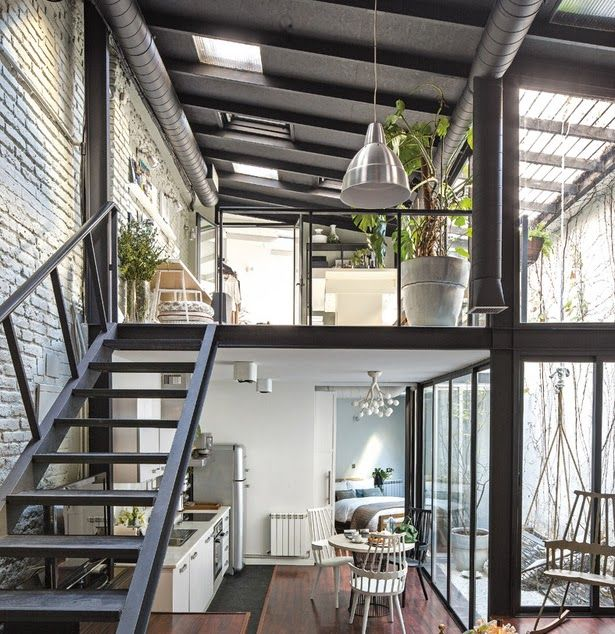 Modern Industrial Style Combines Aesthetics With: 17 Best Ideas About Loft Interiors On Pinterest