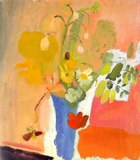 Ivon Hitchens, Summer Bouquet, Blue Vase, 1940. Via Painting box.
