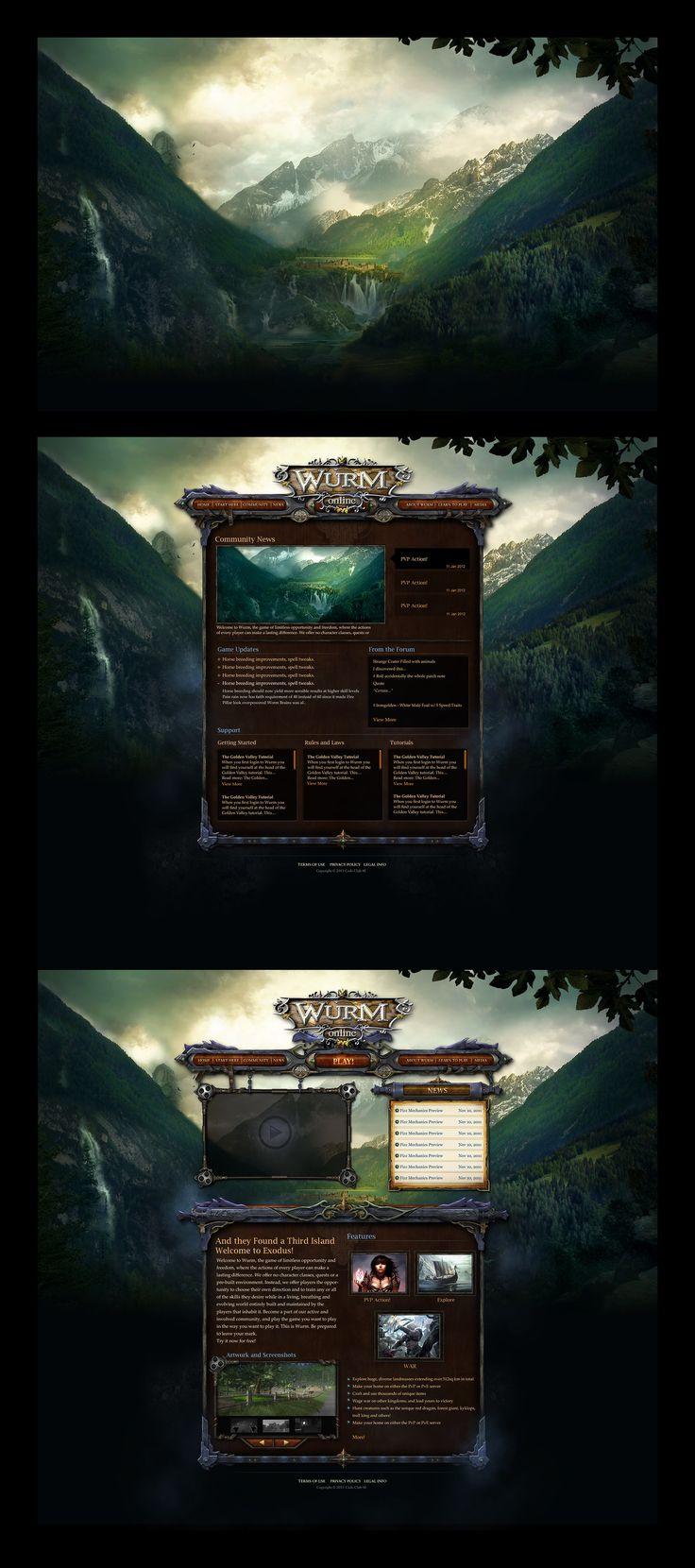 Wurm Online Website by ~karsten on deviantART