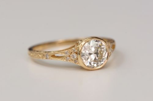gold vintage engagement ring. not  fan of gold but this is beautiful