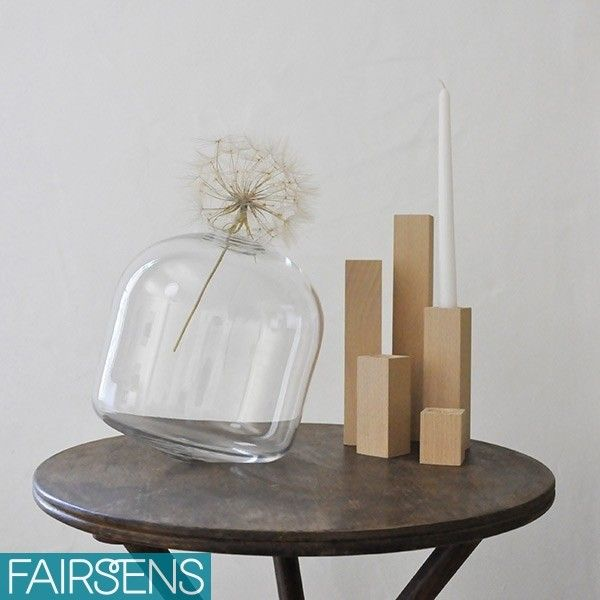 Set de 5 bougeoirs CITY (coloris au choix) et vase GANDHIA - Fairsens // création éco-responsables et made in France // eco-friendly design // #éco-responsable
