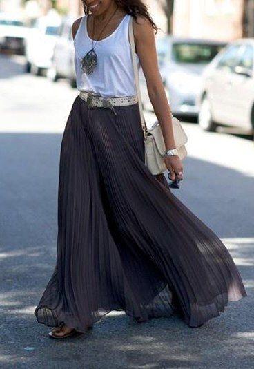 Como usar saia longa? Dicas de experts - Como usar saia longa
