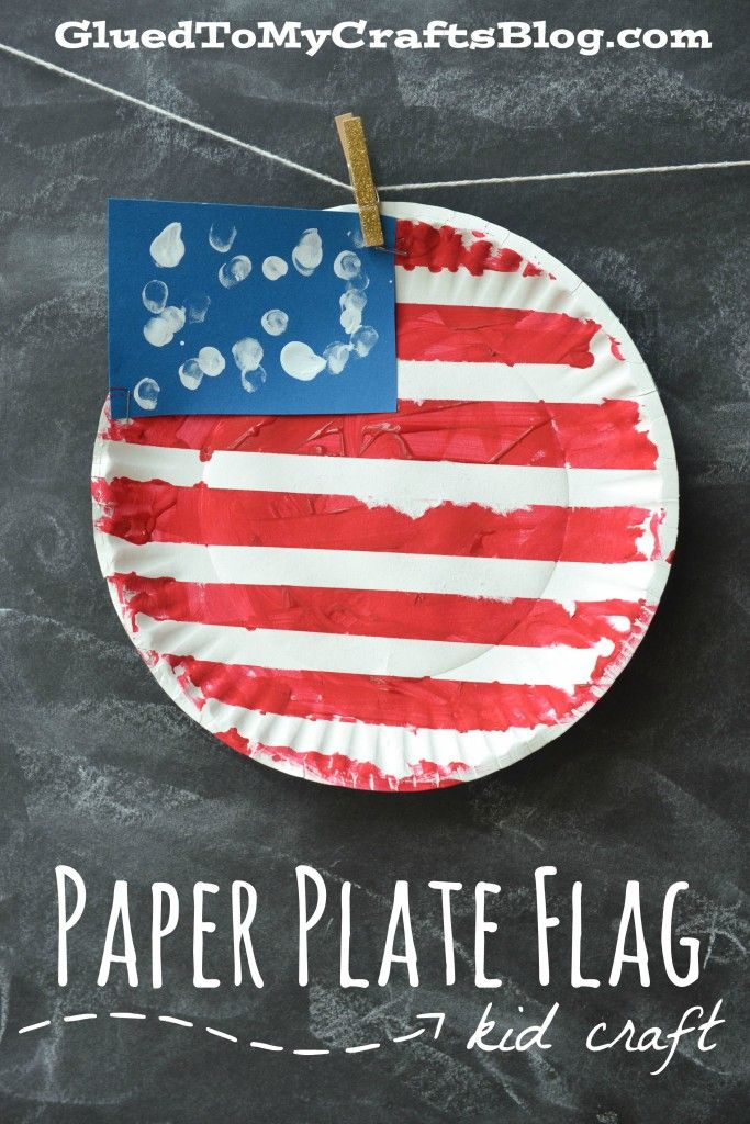 Paper Plate Flag {Kid Craft}