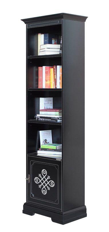 """Libreria """"Stendhal"""" nera - ArteFerretto. Questa libreria presenta una linea di grandissimo fascino che combina l'eleganza del nero con la raffinatezza dell'argento. http://www.styledesign.it/prodotto/4089-n-you-libreria-stendhal-nera/"""