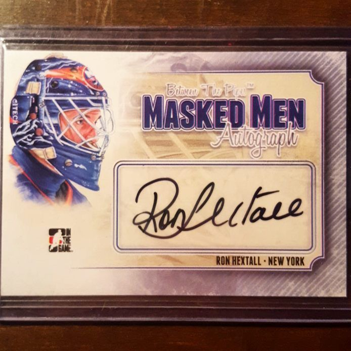 Ron Hextall masked men auto from BTP. I've got a few of these from the numerous boxes I bought! #ronhextall #philadelphiaflyers #quebecnordiques #newyorkislanders #nhl #nhldraft #canada #canadian #goalie #goaltender #vezina #connsmythe #stanleycup #allstar #hockey #hockeycards #hockeyplayer #autograph #autographcard #signature #inthegame #itg #betweenthepipes #thehobby #hobby #cardcollector #cardcollection