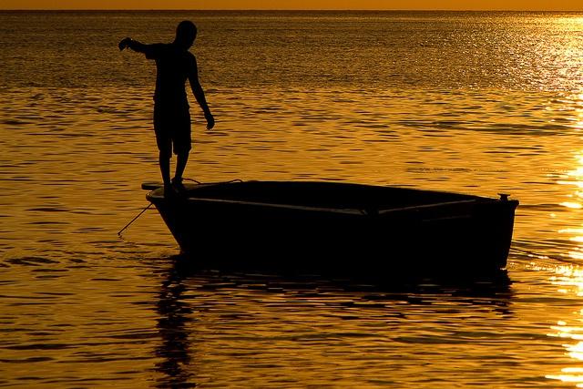 Boatman in Taganga, Colombia