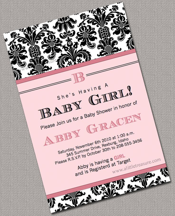 89 best baby shower invites images on Pinterest | Baby shower stuff ...