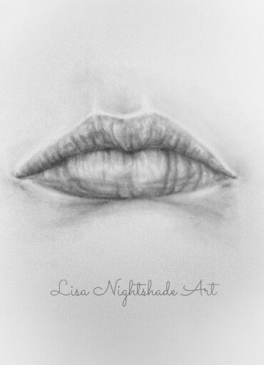 Lips graphite drawing