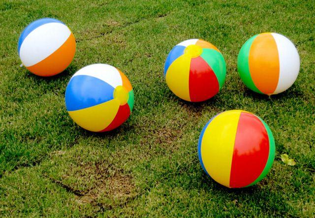 23 CM Gummi Kinder Pool Schwimmen Splash Spielen Party Wasser Spiel Spielzeug Aufblasbare Wasserball