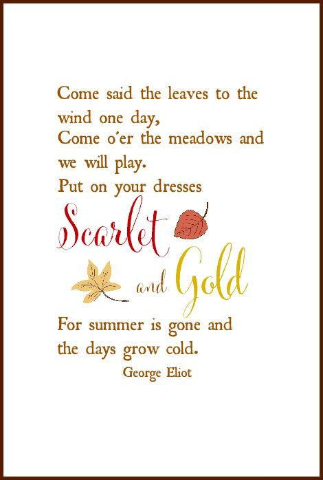 Fall Free Printable | George Eliot Quote | On Sutton Place