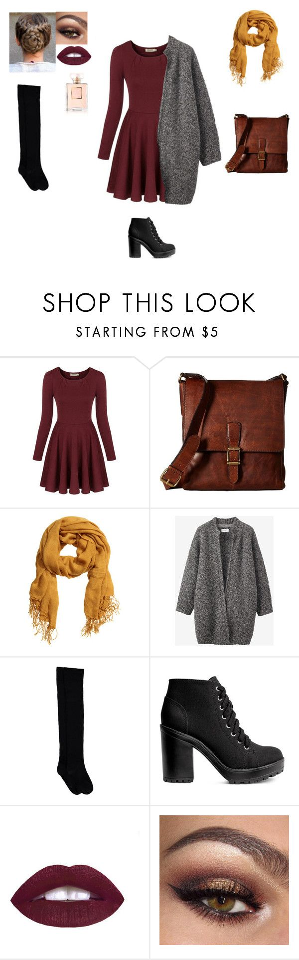 """Fall Outfit"" by hannahchristine18 on Polyvore featuring Chicnova Fashion, Frye, H&M, Toast and Chanel"