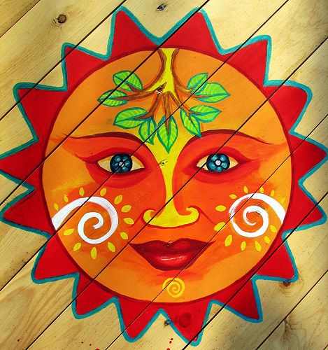 Sun Day by thimblescratch, via Flickr I am thinking this is just a simple pic of the sun -beautifully artistic and means nothing as a symbol of anything, and I would love to have this in my garden