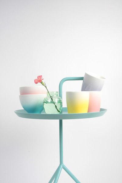 Pretty pastel styling with the Hay DLM in mint :-) http://www.nest.co.uk/search/hay-dlm-side-table