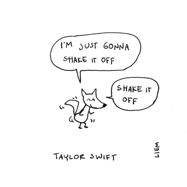 Taylor Swift. Shake It Off.365 illustrated lyrics project, Brigitte Liem.