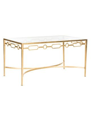 Lura Gold Leaf Retro Coffee Table by Safavieh at Gilt