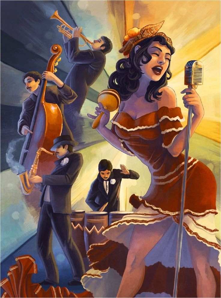 Cuba Cuban Havana Cigars Jazz Singer Vintage Travel Art Advertisement Poster