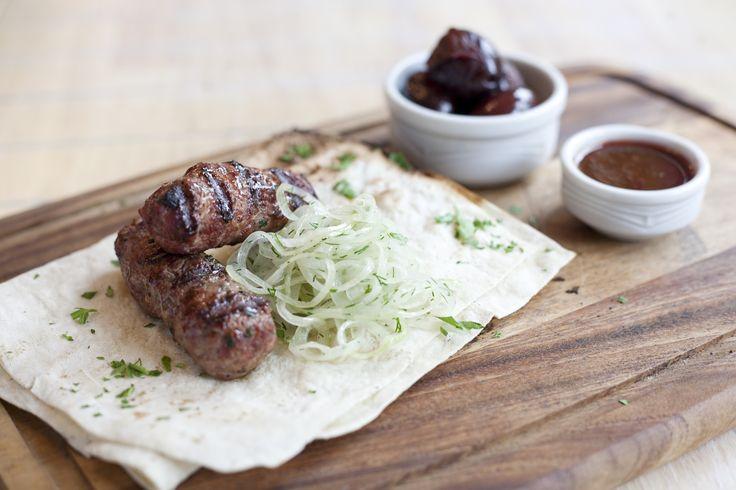 Meat on board  Мясо на доске в ресторане Баркас