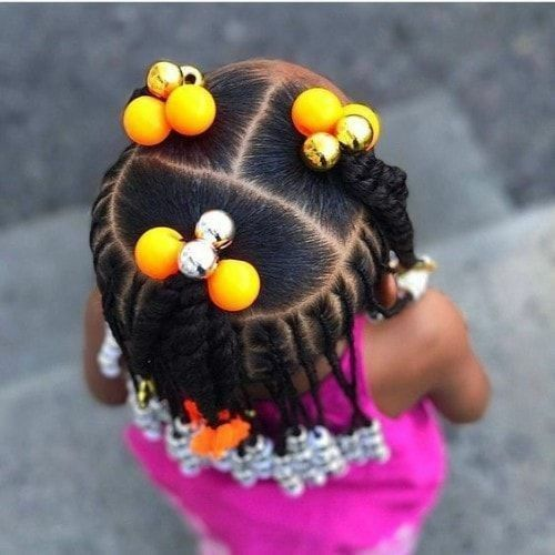 Black Kids Hairstyles with Braids, Beads and Accessories - Girl hairstyles - #accessories #Beads #Black #Braids #Girl
