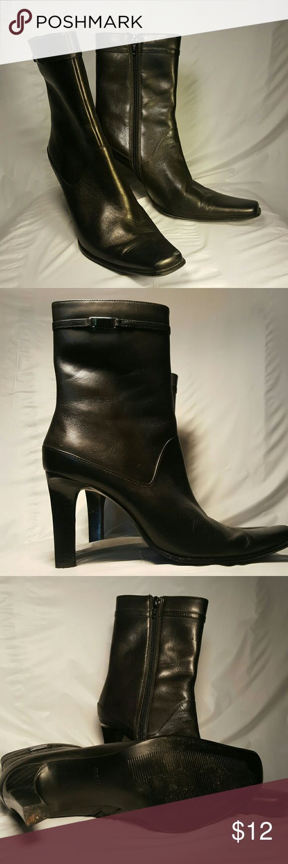 Ladies black ankle boots Maripe ankle boots, leather upper with side zip. Maripe Shoes Ankle Boots & Booties