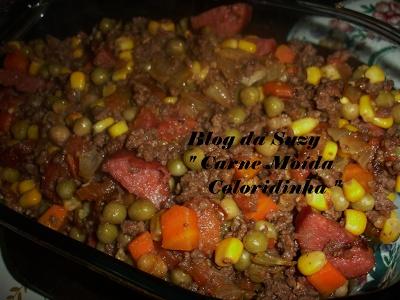 Blog da Suzy : Carne Moída Coloridinha