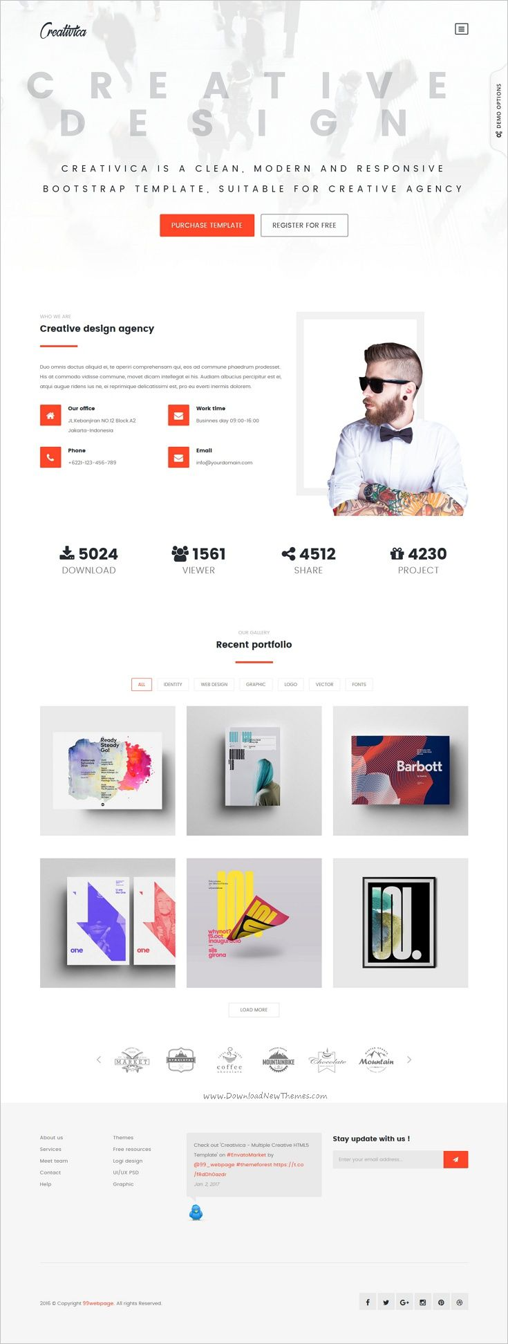Creativica is a powerful responsive #HTML5 Bootstrap #theme for multipurpose #website with 25 creative template, Unlimited icons, 10 Header style, 9 color skins, working contact form download now➩ https://themeforest.net/item/creativica-multiple-creative-html5-template/19061883?ref=Datasata