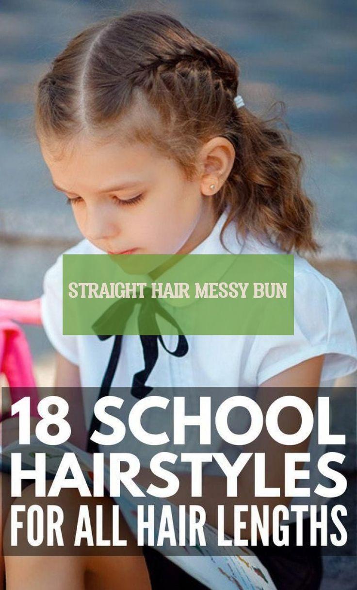 straight hair messy bun Straight Hair glattes haar chaotisch brötchen #straight…
