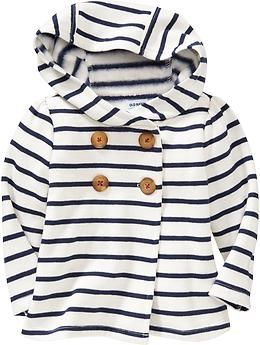 Hooded Fleece Pea Coats for Baby | Old Navy
