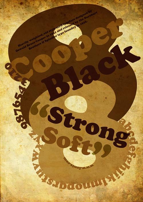 tipografìa Cooper Black