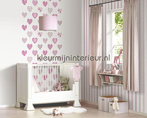 Happy hartjes behang 05583-10 meisjes Dutch Wallcoverings